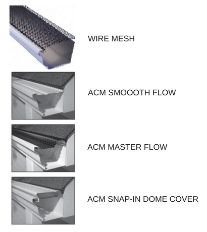 Options for leaf guards on gutter systems
