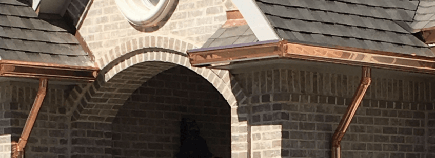Seamless Copper Gutters in Amarillo