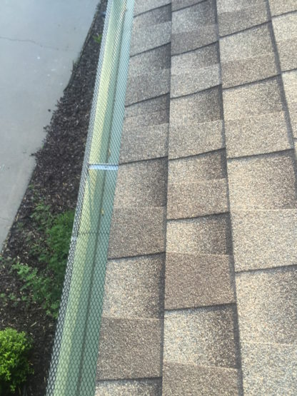 second Wire Mesh Leaf Guard System in amarillo tx