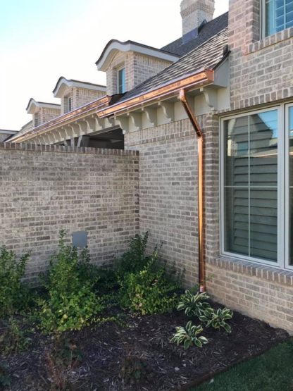 copper seamless rain gutters and down spouts