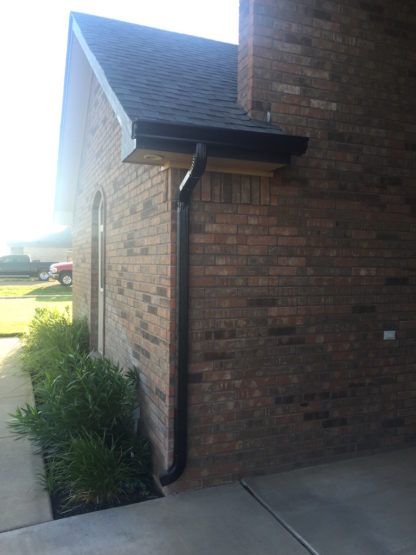 Black 5 Inch with 2x3 gutters and Downspouts