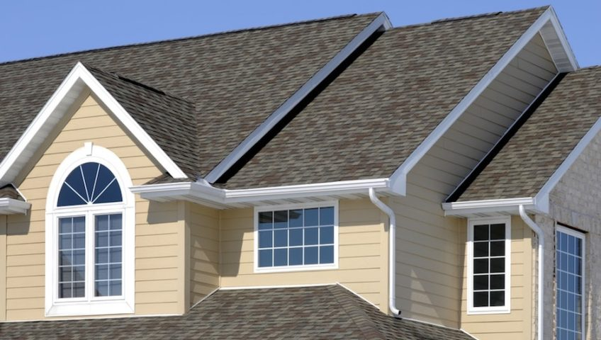 seamless gutters on house